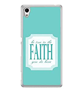 ifasho Faith Quote Back Case Cover for Sony Xperia M4 Aqua