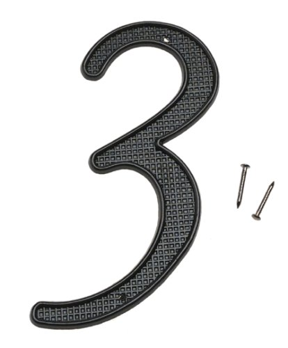 Stanley hardware 57 9933 black 4quot metal house numbers for Black metal house letters