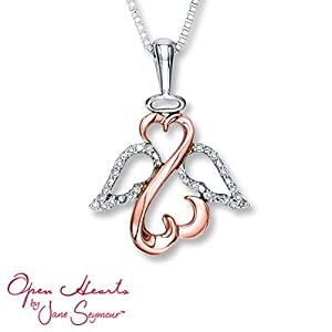 Amazon Com Kay Jewelers Open Heart Necklace 1 20 Cttw