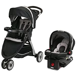 Graco FastAction Fold Sport Stroller Click Connect Travel System, Pierce
