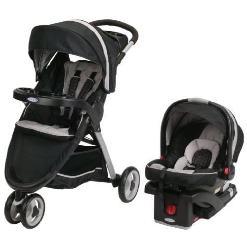 Discover Bargain Graco FastAction Fold Sport Stroller Click Connect Travel System, Pierce