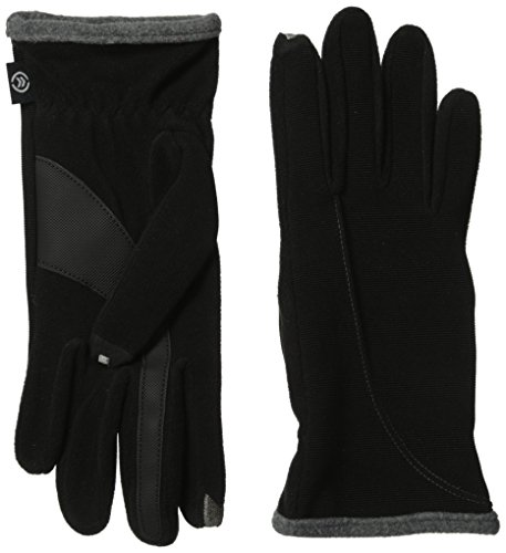 isotoner-womens-smartouch-stretch-ottoman-glove-black-grey-one-size
