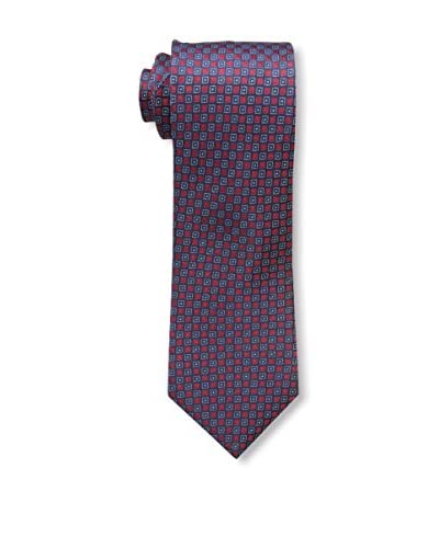 Countess Mara Men's Halley Woven Neat Square Pattern Tie