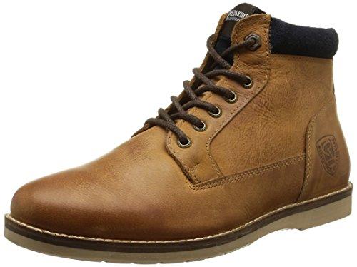 RedskinsBabylone - Sneaker uomo , Marrone (Marron (Cognac/Marine)), 42