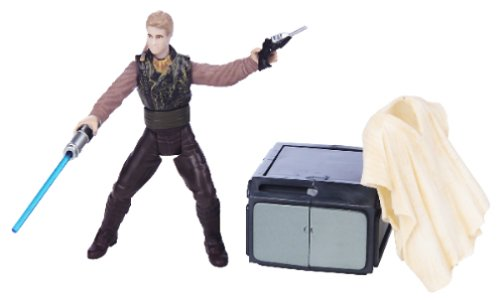 Star Wars: Attack of the Clones Anakin Skywalker Outland Peasant Disguise w/Removable Poncho, Blaster & Storage Container