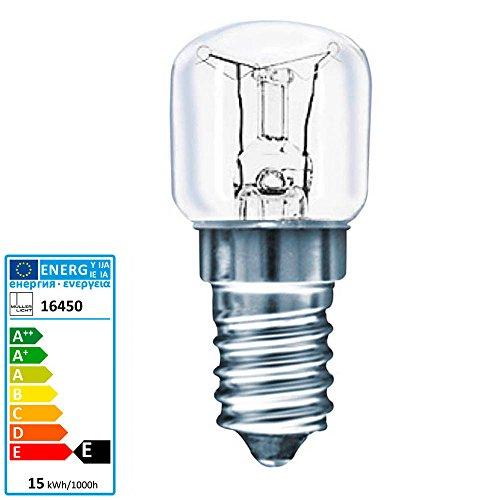 Backofen-Leuchtmittel McShine, E14, 230V, 15W, klar, 70lm