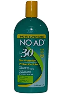 No-ad Spf#30 Sunscreen Lotion 16oz