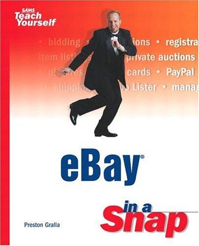 Ebay In A Snap (Sams Teach Yourself)