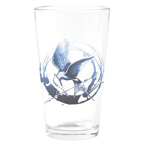 Mockingjay Blue Indigo Hunger Games Gear Drinking Drinking Glass by CafePress - White
