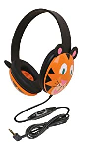 Califone 2810-TI Kids Stereo and PC Headphones, Tiger Design