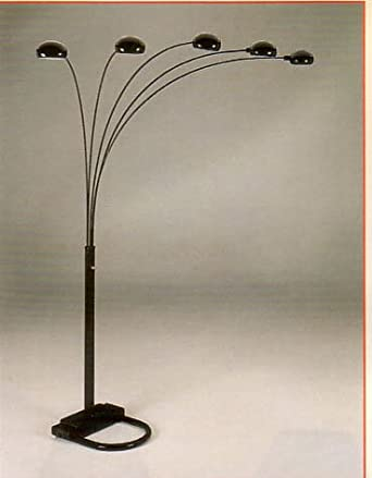 Beautiful New Overhead Sofa Lamp In Black Finish Floor