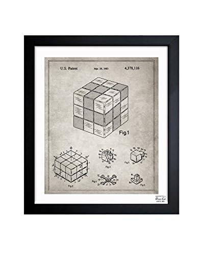 Oliver Gal Spatial Logical Toy, 1983- Grey Framed Art