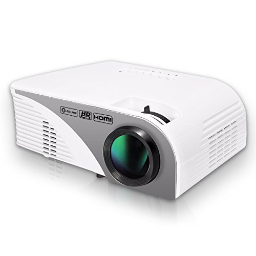 HD Projector LCD 1200 Lumens Mini Video Projector LED Multimedia Projector Support 1080P For Home Cinema Theater...