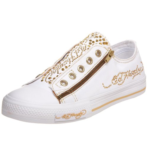 Ed Hardy Ed Hardy King Of Pop, A collo basso bambina, (Gold/Yellow/White), UK Size 1.5