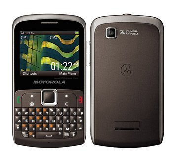 Motorola EX115 Unlocked Dual Sim, Full QWERTY, 3 MP Camera, FM Radio, Micro SD Slot, International Version – Unlocked Phone – No US Warranty – Titanium