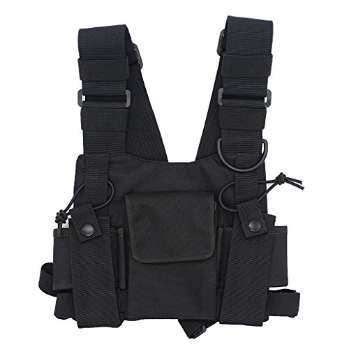 GoodQbuy Universal radio harness chest Rig Bag Pocket Pack Holster Vest for Two Way Radio (Rescue Essentials) (Walkie Talkie Harness compare prices)
