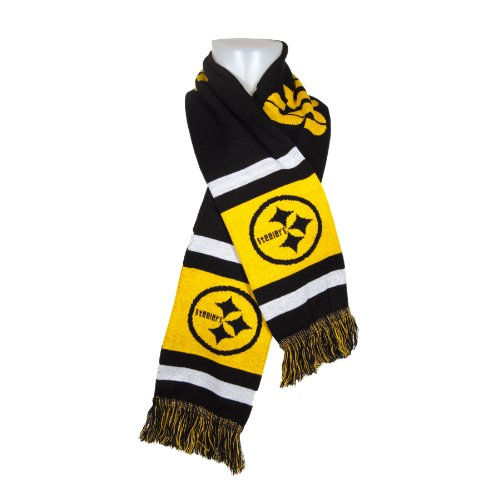 pittsburgh steelers team stripe knit scarf