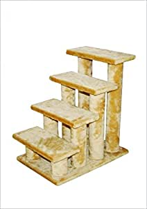 Amazon Beige 4 Steps Pet Dog Cat Step Stairs Pet