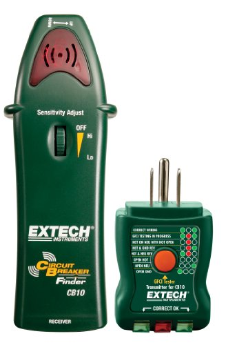 Extech Cb10 Circuit Breaker Finder Locates Fuses/Breakers, Tests Receptacles And Gfci Circuits