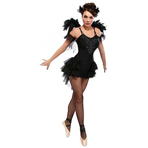 [GSG Black Swan Costume Adult Halloween Fancy Dress] (White And Black Swan Halloween Costumes)