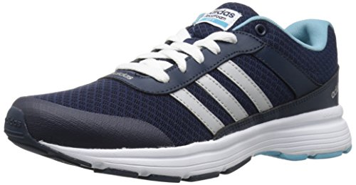 Adidas Performance Women's Cloudfoam VS City W Running Shoe, Collegiate Navy/Matte Silver/Vapor Blue Fabric, 8.5 M US