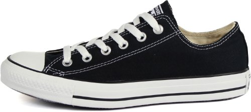 Details for Converse Chuck Taylor All Star Shoes (M9166) Low top in Black, Size: 3 D(M) US Mens / 5 B(M) US Womens, Color: Black