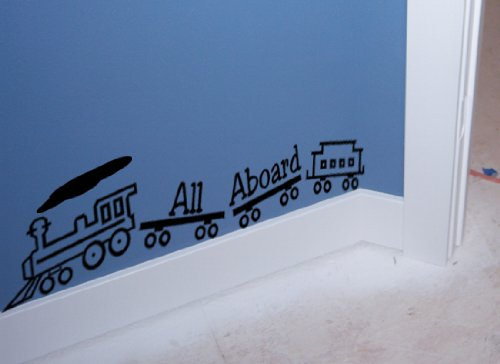 Vinyl wall decal--cute kids train-sold by aluckyhorseshoe