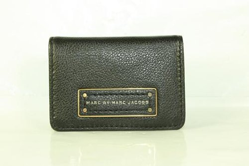 Marc By Marc Jacobs Marc Jacobs Folding Credit Card Holder in Black