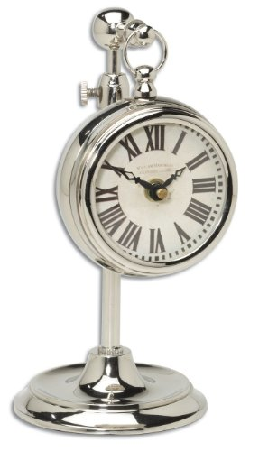 Uttermost Pocket Watch Nickel Marchant Cream Wall Clock