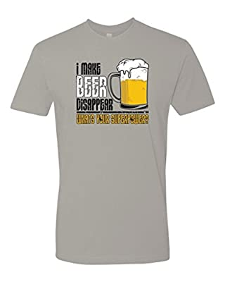 Panoware Men's I Make Beer Disappear Superpower Funny T-Shirt