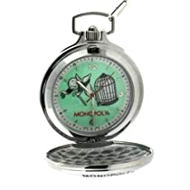 "Colibri Monopoly Pocket Watch w/ Chain and Money Clip ""Chance Go To Jail"" PMS130000S SALE"