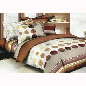 Weaves Scarlet Printed Double Bed Sheet Set-DBL-3126-A
