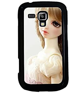Printvisa Baby Doll Dressed Up In White Back Case Cover for Samsung Galaxy S Duos S7562