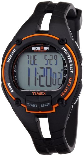 Cheap Timex Ironman Road Trainer Heart Rate Black/Orange (T5K212)