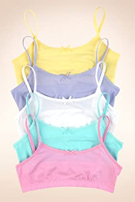 5 Pack - Cotton Rich Assorted Crop Tops