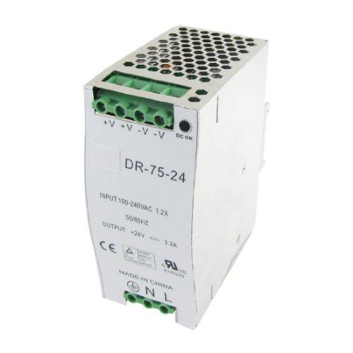 Ac 110-220V Dc 24V 3.2A 77W Din Rail Mount Switch Power Supply Driver For Led Strip Light