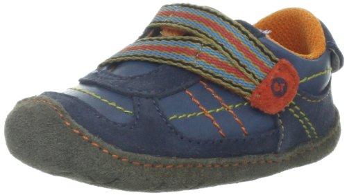 Stride Rite Crawl Fresh Fraser Crib Shoe (Infant/Toddler),Blue/Orange,3 M Us Infant