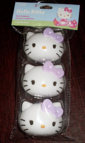 Hello Kitty Easter Egg Candy Treat Containers - Set of 3