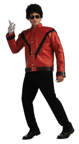 Michael Jackson Deluxe Thriller Jacket, Red, Small Costume