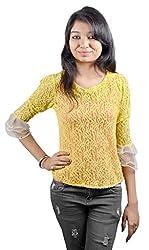 EEIA Women's Yellow Pasiley Top