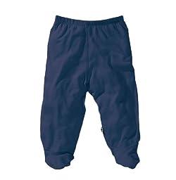 Babysoy Baby Boys\' O Soy Footie Pants - Indigo - 0-3 Months