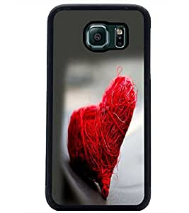 PrintDhaba Heart D-2232 Back Case Cover for SAMSUNG GALAXY S6 (Multi-Coloured)