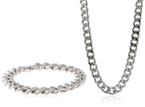 Men'S Chunky Chain Stainless Steel Jewelry Box Set