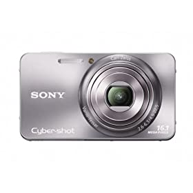 Sony Cyber-Shot DSC-W570 16.1 MP Digital Still Camera with Carl Zeiss Vario-Tessar 5x Wide-Angle Optical Zoom Lens and 2.7-inch LCD (Silver)