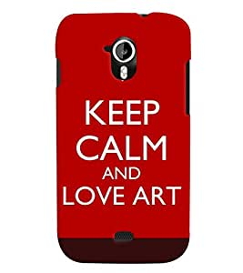 Fuson Meaningful Text Back Case Cover for MICROMAX A116 CANVAS HD - D3999