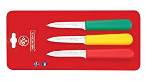 Mundial SCRYG5601-3 3-1/4-Inch Paring Knife Collection, Set of 3, Red