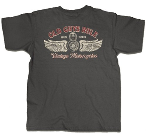 Old Guys Rule T-shirt Vintage Motorcycles Loud & Proud-medium