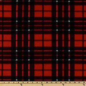 winterfleece classic plaid red black fabric. Black Bedroom Furniture Sets. Home Design Ideas
