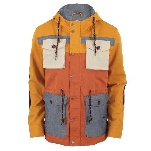 Bellfield Mens Primavera Hooded Coat Mustard XX-Large