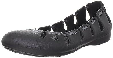 Crocs Women's Springi Ballet Flat,Black/Graphite,4 M US